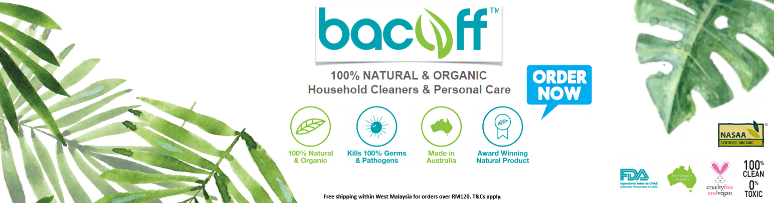 Bacoff 100% NATURAL & ORGANIC household cleaners & personal care products