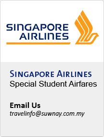 Singapore Airlines Special Student Airfares