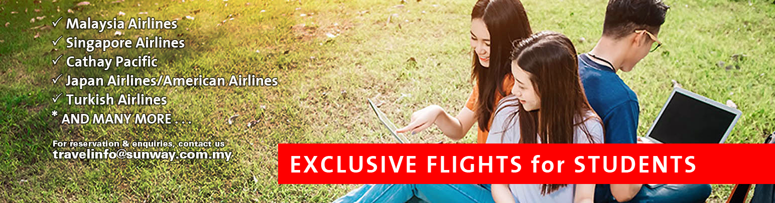 EXCLUSIVE FLIGHTS for STUDENTS